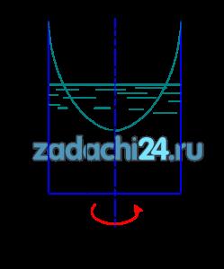 В цилиндрический сосуд (схема 1.10) диаметром D0=0,3 м и высотой Н0=0,5 м налита вода с начальным уровнем hн=0,3 м. Определить: 1) Будет ли выплескиваться вода, если сосуд будет вращаться с постоянной частотой вращения n? 2) На каком расстоянии z0 от дна будет находиться самая низшая точка свободной поверхности? 3) С какой частотой нужно вращать сосуд, чтобы вода поднялась до краев сосуда?