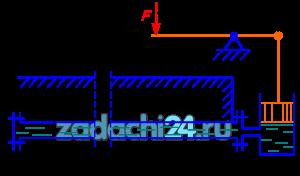 Для опрессовки водой подземного трубопровода (проверки на герметичность) применяется ручной поршневой насос. Определить объем воды (Е=2000 МПа), который нужно накачать в трубопровод для повышения избыточного давления в нем от 0 до 1,0 МПа. Длина трубопровода L=500 м, диаметр - d=100 мм. Чему равно усилие на рукоятке насоса в последний момент опрессовки, если диаметр поршня насоса dн=40 мм, а соотношение плеч рычажного механизма a/b=5?