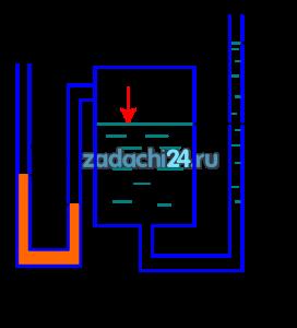 Определить величину давления р в котле и пьезометрическую высоту h2, если высота поднятия ртути в ртутном манометре h1=0,12 м (рис.1). Плотность ртути ρрт=13550 кг/м³.