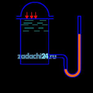 В закрытом резервуаре с водой, температура которой 20 ºС, при помощи воздушной подушки поддерживается избыточное давление р0. Каковы показания ртутного манометра h, который установлен таким образом, что нижний уровень ртути находится на H ниже уровня воду в резервуаре (рис.4).