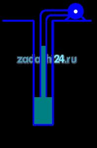 Насос забирает воду из колодца. Высота подъема воды в трубопроводе h. Атмосферное давление ра, мм рт. столба, давление во всасывающем патрубке насоса рн (технических атмосферах). Определить неизвестную величину.