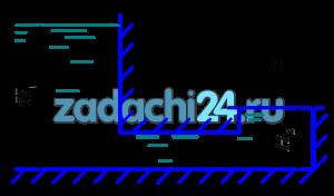 Определить силу гидростатического давления жидкости на круглую крышку колодца диаметром D=1,2 м. Относительная плотность жидкости δ=1,25, глубины Н1=4,5 м, Н2=1,0 м.