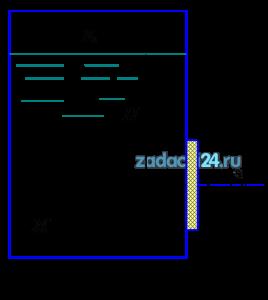 Определить силу давления жидкости Ж и точку ее приложения на квадратную крышку люка со стороной а, закрывающую отверстие в закрытом резервуаре. Абсолютное давление на поверхности жидкости р0. Построить эпюру избыточного гидростатического давления на крышку люка.