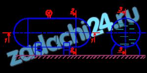 Пуляевский А.М Гидравлика и нефтегазовая гидромеханика Хабаровск ТОГУ-ЦДОТ Задача 10 Горизонтальный цилиндрический резервуар, закрытый полусферическими днищами, заполнен жидкостью Ж. Длина цилиндрической части резервуара L, диаметр D (рис.9). Манометр показывает манометрическое давление рм. Температура жидкости 20 ºС. Определить силы, разрывающие резервуар по сечениям: 1-1, 2-2, 3-3.