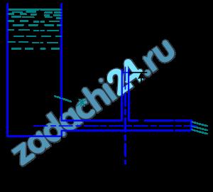 При истечении жидкости из резервуара в атмосферу по горизонтальной трубе диаметром d и длиной 2l уровень в пьезометре, установленном посередине длины трубы, равен h (рис.7). Определить расход Q и коэффициент гидравлического трения трубы λ, если статический напор в баке постоянен и равен Н. Построить пьезометрическую и напорную линии. Сопротивлением входа в трубу пренебречь.