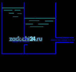 Определить уровни воды в секциях резервуара при установившемся режиме истечения, если приток составляет Q, а диаметр отверстия d1 и диаметр внешнего цилиндрического насадка d2.