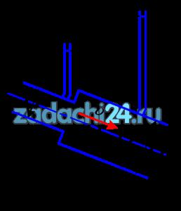 При внезапном расширении трубопровода скорость жидкости в трубе большего диаметра равна υ. Отношение диаметров труб D/d=2 (рис.14). Определить h - разность показаний пьезометров.