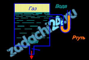 Определить расход воды, вытекающей из бака через короткую трубку (насадок) диаметром d=30 мм и коэффициентом сопротивления ζ=0,5, если показание ртутного манометра hрт=1,47 м; Н1=1 м; H0=1,9 м; l=0,1 м.