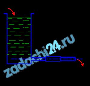 Из открытого резервуара, в котором поддерживается постоянный уровень, по стальному трубопроводу (эквивалентная шероховатость Δэ=0,1 мм), состоящему из труб различного диаметра d и различной длины l, вытекает в атмосферу вода, расход которой Q, температура t, ºC (рис.1). Требуется: Определить скорости движения воды и потери напора (по длине и местные) на каждом участке трубопровода. 2 Установить величину напора H в резервуаре. Построить напорную и пьезометрическую линии на всех участках трубопровода.