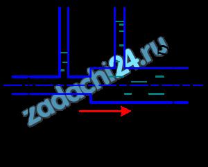 По горизонтальной трубе переменного сечения протекает жидкость с относительной плотностью δ=1,2, расход Q=50 л/мин (рис. 8.11). Определить разность показаний пьезометров, если диаметр трубопровода в широком сечении D=75 мм, а в узком d=40 мм. Потери напора hw=0,2 м.