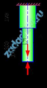Двухступенчатый стальной брус, длины ступеней которого указаны на рис.23 (схемы I-X) нагружены силами F1 и F2. Построить эпюры продольных сил и нормальных напряжений по длине бруса. Определить удлинение (укорочение) бруса, приняв Е=2·105 МПа. Числовые значения сил F1 и F2, а также площадей поперечных сечений ступеней A1 и A2 для своего варианта взять из табл.8.