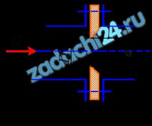 На участке горизонтального трубопровода диаметром D=80 мм, по которому движется вода с расходом Q=12 л/c, имеются обыкновенный вентиль и 3 поворота трубы на 90º с угольником. Определить, какой будет расход при том же перепаде давлений, если на трубопровод установить диафрагму (рис. 9.3) диаметром в=20 мм. Потерями напора по длине пренебречь.