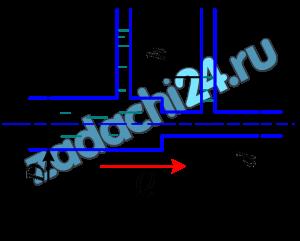 По горизонтальной трубе переменного сечения протекает вода при разности показаний пьезометров h=1,5 м (рис. 8.8). Определить расход Q, если диаметр трубопровода в широком сечении D=80 мм, а в узком d=50 мм. Потери напора hW=0,15 м.