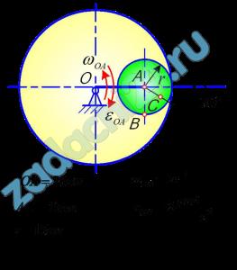 ПЛОСКОЕ ДВИЖЕНИЕ ТВЕРДОГО ТЕЛА  Для заданного положения механизма найти:  1 Скорости точек В и С и угловую скорость тела, которому они принадлежат.  2 Ускорение этих точек и угловое ускорение указанного в пункте 1 тела.