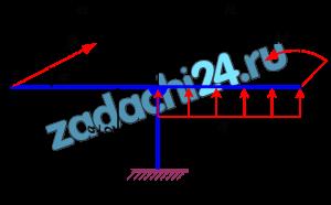 Плоская произвольная система сил  Тело нагружено заданными нагрузками Р, q, M. Определить реакции связей. Схемы заданий приведены на рис. 19. Для всех вариантов Р=20 кН, q=5 кН/м, М=10 кН·м, а=2 м, α=30º.  Примечания: Обозначения нагрузок, размеров и углов см. на схемах в верхней и нижних частях рис. 19.