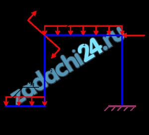 Для статически определимых рам, представленных на расчетных схемах, определить реакции опор.