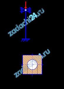Расчет на устойчивость Стержень длиной l сжимается продольной нагрузкой F. Требуется: 1) для заданной формы поперечного сечения подобрать размер а, принимая допускаемые напряжения [σ]=160 МПа; 2) определить величину критической силы по формулам Эйлера или Ясинского и вычислить коэффициент запаса устойчивости. Расчетная схема приведена на рис. 9.1, форма поперечного сечения и материал стержня на рис. 9.2.