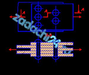 Для одного из узлов, показанных на рис. 10, с помощью расчетов на прочность при растяжении, сжатии, кручении, а также условных расчетов на срез и смятие определить указанные на схеме размеры и уточнить их в соответствии с ГОСТ 6639-69. Принять: материал – сталь с допускаемыми напряжениями при растяжении (сжатии) [σ]=100 МПа, кручении - [τ]=50 МПа, срезе - [τср]=0,8[σ], смятии - [σсм]=2[σ]. Остальные данные взять из табл. 10.
