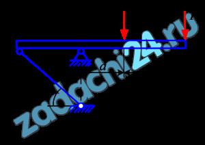 В шарнирно – стержневой конструкции определить реакцию в стержне -k- (рисунок 7, таблица 4).
