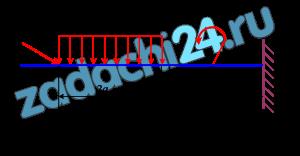 Определить величины реакций в опоре защемленной балки (рис. 1). Провести проверку правильности решения. Исходные данные для расчета представлены в табл. 1.