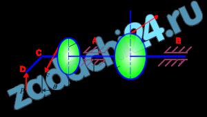 Тема «Пространственная система сил» На горизонтальный вал насажены колесо 1 радиусом r1=20 см, колесо 2 радиусом r2=30 см и прикреплен перпендикулярно оси вала (параллельно оси х) рычаг СD длиной l=20 см. К одному колесу приложена сила F, образующая с горизонталью угол α1, а к другому – сила Т2, образующая с вертикалью угол α2; к рычагу приложена вертикальная сила Р (рис. 4, схемы 4 – 7). Пренебрегая весом вала, колес и рычага, определить силу Р, при которой вал находится в равновесии, а также реакции подшипников А и В.