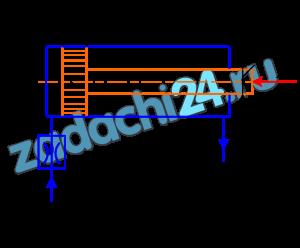 Определить время полного хода поршня гидроцилиндра при движении против нагрузки, если давление на входе в дроссель рн, давление на сливе рс. Нагрузка вдоль штока F, коэффициент расхода дросселя μ=0,62, диаметр отверстия в дросселе dдр=1 мм, плотность масла ρ=900 кг/м³, диаметры: цилиндра D, штока d, ход штока L (на рис.39).