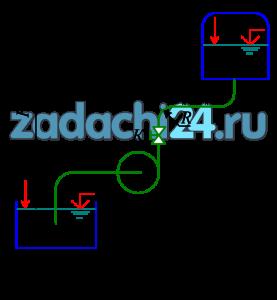 Центробежный насос, характеристика которого задана (табл.2), подает воду на геометрическую высоту Нг. Температура подаваемой воды t=20ºC. Трубы всасывания и нагнетания соответственно имеют диаметр dв и dн, а длину lв и lн. Эквивалентная шероховатость Δэ=0,06 мм. Избыточное давление в нагнетательном резервуаре в процессе работы насоса остается постоянным и равно р0.