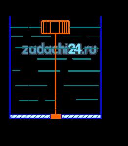 диаметром D=20 см, который при слое бензина Н≥80 см обеспечивал бы автоматическое открытие клапана диаметром d=4 см (рис.1). Длина тяги h=74 см. Вес клапана и тяги принять 1,7 Н=0,173 кг. Относительный удельный вес бензина 0,75.