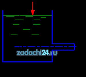 Определить расход воды, проходящей через цилиндрический насадок (рис.1) длиной l=l1=0,1 м и диаметром d=0,1 м под напором Н=4 м. Определить расход насадка при тех же условиях на длине . Определить расход того же насадка (d=0,1 м, l=0,4 м) при прежнем положении воды в резервуаре, но при избыточном давлении на свободной поверхности рм=117,7 кПа.