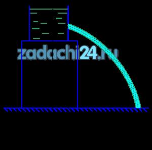 При истечении жидкости через отверстие диаметром d0=10 мм измерены: расстояние х=5,5 м, высота у=4 м, напор h=2 м и расход жидкости Q=0,305 л/с. Подсчитать коэффициенты сжатия ε, скорости φ, расхода μ и сопротивления ξ. Распределение скоростей по сечению струи считать равномерным. Сопротивлением воздуха пренебречь (рис.10.3). Какой параметр необходимо изменить в условии, чтобы расход увеличился на 30%?