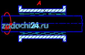 Зазор А между валом и втулкой заполнен жидкостью маслом. Длина втулки L. К валу, диаметр которого D, приложен вращающий момент M (рисунок 14). При вращении вала масло постепенно нагревается и скорость вращения увеличивается. Определить частоту вращения вала при температуре масла T. Данные для решения задачи в соответствии с вариантом задания выбрать из таблицы 2.
