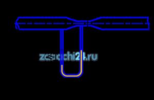 На рис.1.3 представлен водомер Вентури (участок трубы с плавным сужением потока), предназначенный для измерения расхода протекающей по трубопроводу жидкости. Определить расход Q, если разность уровней в трубках дифференциального ртутного манометра h, диаметр трубы d1, диаметр горловины (сужения) d2. Потерями напора в водомере пренебречь.