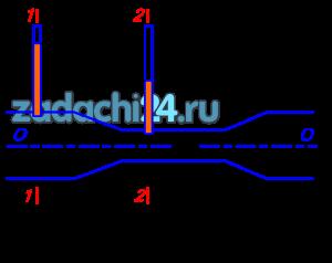 Через водомер Вентури проходит расход Q, м³/c, известны диаметры широкого D и узкого d трубопроводов. Разница в показаниях пьезометров h, м. Определить неизвестную величину.