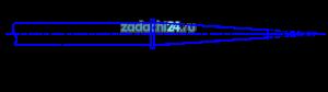 При производстве земляных работ способом гидромеханизации для размыва грунта водой применяют гидромониторы (рис.33). С целью увеличения выходной скорости струи гидромонитор снабжается конически сходящимся насадком. Угол конусности насадка α=13º24′. Определить скорость истечения и расход воды, если напор на выходе из насадка Н=60 м и диаметр выходного отверстия насадка d=0,035 м.