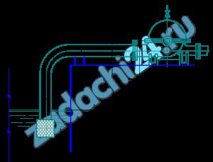 Определить высоту расположения оси центробежного насоса над свободной поверхностью воды в водоеме, если диаметр всасывания трубы dвс, длина всасывающей трубы L, расход воды G, давление перед входом в насос рвс, труба чугунная старая, имеет приемную сетку, одно колено и задвижку (табл.4).