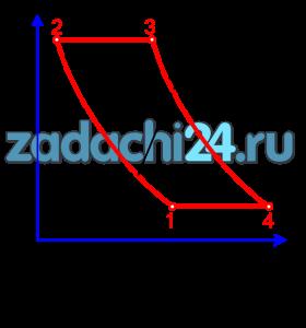 Рассчитать цикл газового двигателя: двигателя внутреннего сгорания (ДВС) или газотурбинного двигателя (ГТД), рис.21.  Номер цикла и исходные данные для расчета приведены в табл.1 по вариантам. Размерность величин, приведенных в табл.8: р [бар],υ [м³/кг], t [ºC].  Принять, что рабочее тело обладает свойствами воздуха.  Рассчитать параметры (р, υ, Т) в узловых точках цикла, подведенную (q1), отведенную (q2) теплоту, работу (l) и термический КПД (ηt) цикла.  Теплоемкость воздуха принять постоянной. Показать цикл в T-s - диаграмме. Результаты расчета представить в виде табл.9.  Ответить на вопросы:  Для вариантов с расчетом цикла :  1) Чем отличается обратимый цикл  от реального?  2) Как влияет степень сжатия  и начальные параметры рабочего тела  на термический  цикла?  Для вариантов с расчетом цикла ДВС:  1) Чем отличается обратимый цикл ДВС от реального?  2) Как влияет степень сжатия ε=υ1/υ2 и начальные параметры рабочего тела (p1, T1) на термический КПД цикла?  Для вариантов с расчетом цикла ГТД:  1) Приведите схему ГТД для Вашего варианта.  2) В чем состоят преимущества и недостатки газотурбинных двигателей по сравнению с ДВС?