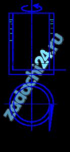 Кольцевая щель между двумя цилиндрами d=192 мм и D=200 мм залита трансформаторным маслом ρм=915 кг/м³. Внутренний цилиндр вращается равномерно с частотой n=110 мин-1 (рис. 1.5). Определить касательные напряжения в жидкости, если момент, приложенный к внутреннему цилиндру, М=0,06 Н·м, а высота столба жидкости в щели между цилиндрами h=100 мм. Трением основания внутреннего цилиндра пренебречь.