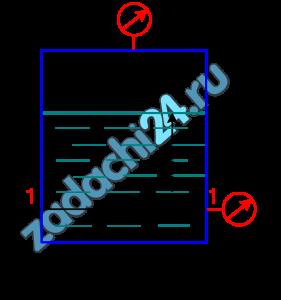 В закрытом резервуаре с нефтью плотностью ρ=850+3 кг/м³ вакуумметр, установленный на его крышке, показывает рв=0,2+(0,01·3) ат. Определить показание манометра рм, присоединенного к резервуару на глубине Н=16 м от поверхности жидкости.