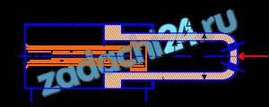 Определить давление р1, необходимое для удержания цилиндром Ц нагрузки F=70 кН. Противодавление в полости 2 равно р2=0,3 МПа, давление в полости 3 равно атмосферному. Размеры: Dц=80 мм; Dш=70 мм; d1=50 мм.