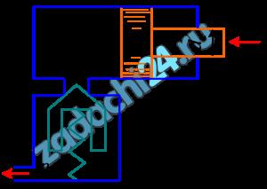 Определить минимальное значение силы F, приложенной к штоку, под действие которой начнется движение поршня диаметром D=80 мм, если сила пружины, прижимающая клапан к седлу, равна F0=100 H, а давление жидкости р2=0,2 МПа. Диаметр входного отверстия клапана (седла) d1=10 мм. Диаметр штока d2=40 мм, давление жидкости в штоковой полости гидроцилиндра р1=1,0 МПа.