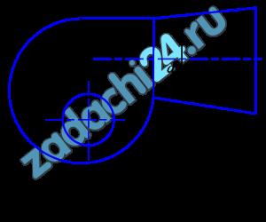 На нагнетательном патрубке вентилятора (рис.18) диаметром d1=0,2 м, подающего воздух плотностью ρ=1,2 кг/м³ в количестве Q=0,833 м³/c, при избыточном давлении рм=981 Па, установлен диффузор с диаметром выходного сечения d3=0,3 м. Определить давление воздуха на выходе из диффузора. Изменение плотности воздуха и потери в диффузоре не учитывать.
