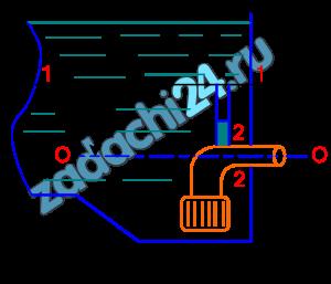 Для сохранения неприкосновенного пожарного запаса воды в резервуаре всасывающая линия оборудована воздушной трубкой, верхний срез которой находится на уровне пожарного запаса в резервуаре. Предполагается, что при снижении уровня воды до пожарного запаса воздух, вследствие возникновении вакуума в сечении, к которому приварена трубка, проникает во всасывающий трубопровод насосов, произойдет срыв работы насоса и забор воды прекратится.  Определить, сохранится ли неприкосновенный запас воды, если уровень воды находится на высоте h выше оси всасывающей трубы. Диаметр трубы D, расход воды Q. Труба оборудована всасывающей сеткой с клапаном (ξ1=6,0) и имеет колено (ξ2=0,5).