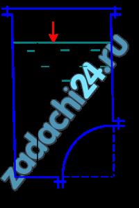 Определить равнодействующую силу гидростатического давления жидкости на цилиндрическую поверхность ab радиусом r и шириной b,  если: r=0,4 м; b=1,4 м; h=2,2 м; ρ=1000 кг/м³; р0=40 кПа.