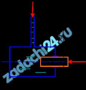 На какую высоту h поднимется вода в пьезометре, если сила, действующая на плунжер, Р=200 Н, диаметр плунжера d=0,10 м, плотность воды ρ=10³ кг/м³, а=0,3 м (рис. 2.15). Построить эпюру избыточного давления на верхнюю поверхность резервуара.