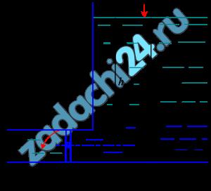 Выход воды из резервуара перекрывает прямоугольный затвор, вращающийся вокруг горизонтальной оси (рис. 2). Глубина воды в резервуаре Н, высота затвора а, ширина затвора b. Определить силу Р давления воды на затвор и центр давления. Построить эпюру гидростатического давления на затвор.