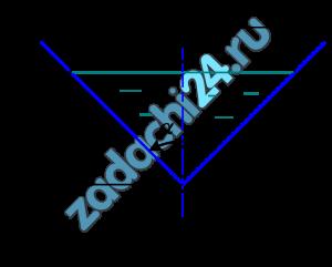 Жидкость движется в треугольном лотке (рис. 7.8) с расходом Q=50 л/c. Ширина потока b=0,8 м, глубина наполнения h=0,3 м. Определить, при какой температуре будет происходить смена режимов движения жидкости. График зависимости кинематического коэффициента вязкости жидкости от температуры показан на рис. 7.5.