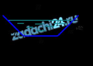 Жидкость движется в трапецеидальном лотке (трапеция равнобокая) с расходом Q=0,01 лс (рис. 7.10). Ширина лотка по дну b=0,4 м, глубина наполнения h=0,2 м, угол наклона боковых стенок лотка к горизонту α=45º. Динамический коэффициент вязкости жидкости μ=0,002 Па·с, ее плотность ρ=800 кг/м³. Определить число Рейнольдса и режим движения жидкости.