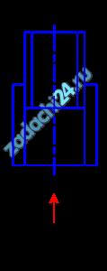 Сопло фонтана, представляющее собой отрезок трубы длиной l=60 мм с внутренним диаметром d=15 мм, установлено в трубе с внутренним диаметром d1=30 мм, по которой подается вода к соплу (рис. 10.28). Определить высоту подъема фонтана с учетом скорости подхода к соплу, если давление перед соплом составляет 0,5·105 Па. Сопротивлением воздуха пренебречь.