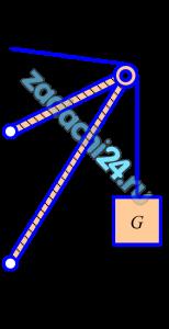 На кронштейне, состоящем из невесомых стержней АВ и ВС, скрепленных друг с другом и стеной шарнирами, укреплен в точке В блок (рисунок 1). Через блок перекинута нить DBE, один конец которой привязан к стене в точке D, а на другом подвешен груз G. Определить реакции стержней, пренебрегая размерами блока, если сила тяжести G=20 кН, углы α=30º и β=45º.