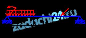 Определить реакции опор двухопорной балки (рис.6.1). Исходные данные - в табл.6.1